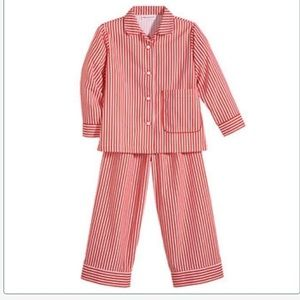American Girl Molly Red Striped Pajamas Size Small